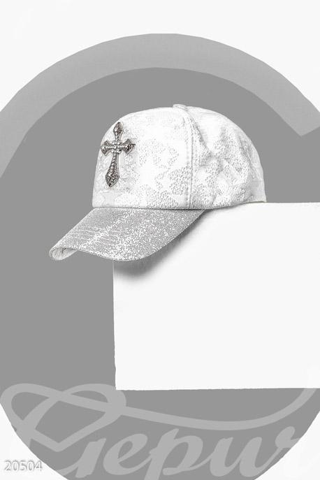 Купить Перчатки, шарфы, шапки / Кепки, Кепка с декором, Кепка-20504, GEPUR, белый