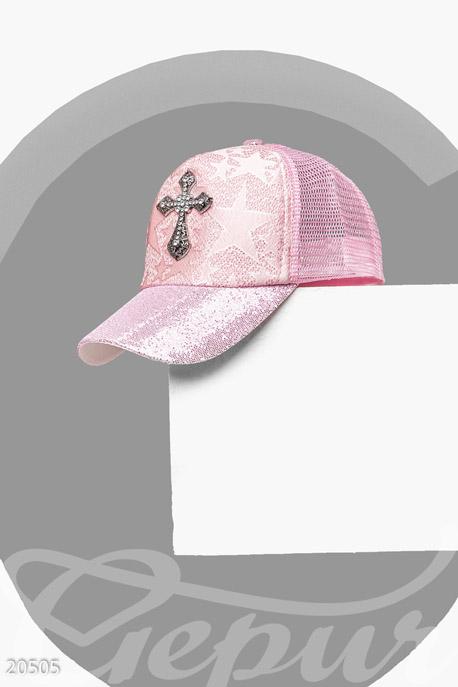 Купить Перчатки, шарфы, шапки / Кепки, Кепка с декором, Кепка-20505, GEPUR, розовый