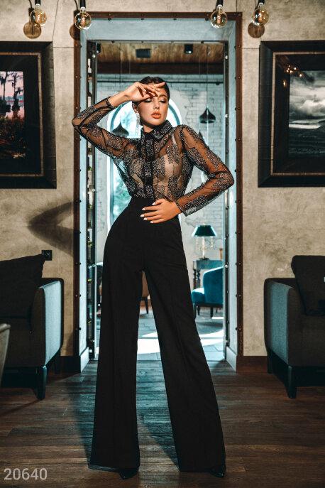 Купить Premium / Блузы, рубашки, Блуза с бисером, Блуза-20640, GEPUR, Черно-золотой
