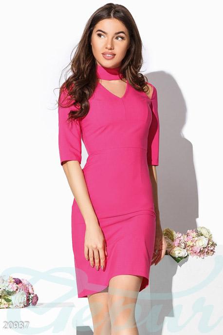Купить Платья / Миди, Яркое платье-футляр, Платье-20937, GEPUR, малиновый