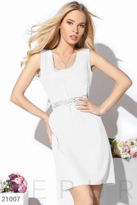 Купить Платья / Мини, Летнее однотонное платье, Платье-21007, GEPUR, белый