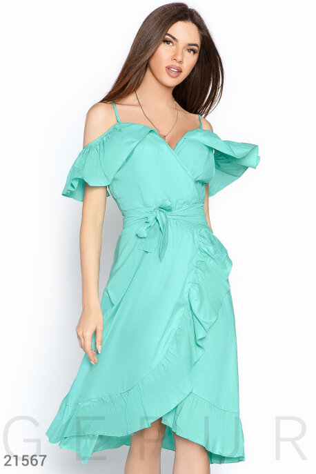 Платья / Сарафаны, Сарафан открытые плечи, Сарафан-21567, GEPUR, мятный  - купить со скидкой