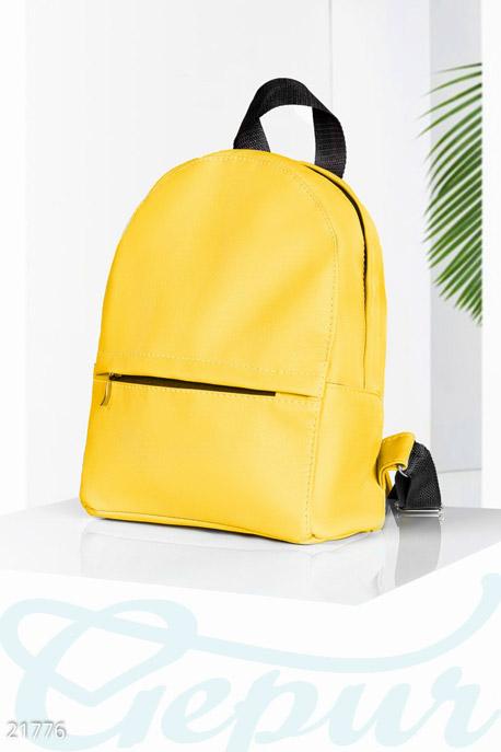 Купить Сумки, клатчи, кошельки / Рюкзаки, Небольшой экокожаный рюкзак, Рюкзак-21776, GEPUR, желтый