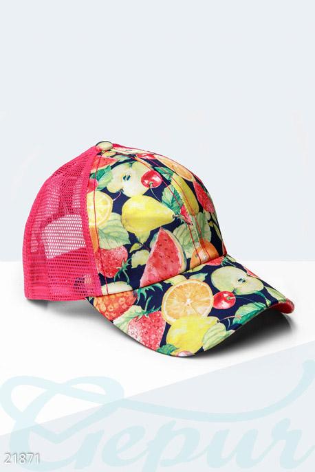 Купить Перчатки, шарфы, шапки / Кепки, Бейсболка с фруктами, Кепка-21871, GEPUR, малиновый