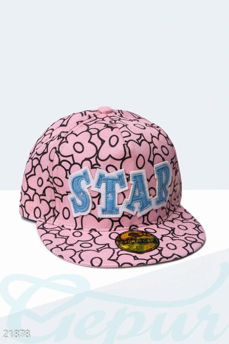 Купить Перчатки, шарфы, шапки / Кепки, Оригинальная бейсболка Star , Кепка-21878, GEPUR, розово-черный
