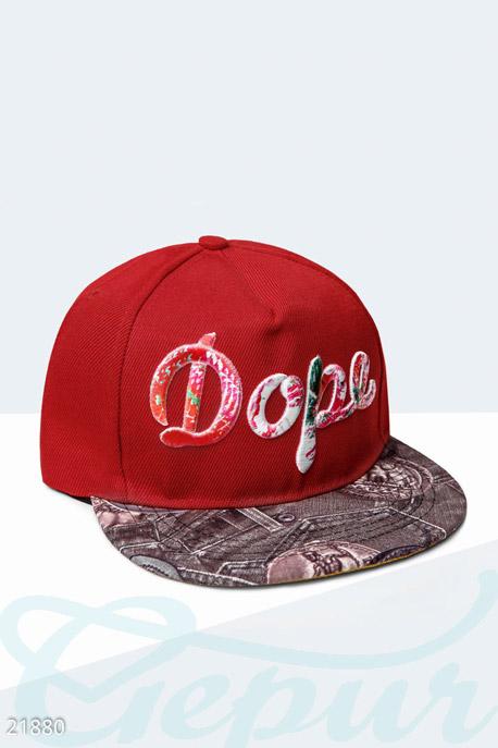 Купить Перчатки, шарфы, шапки / Кепки, Стильная бейсболка Dope , Кепка-21880, GEPUR, красно-коричневый