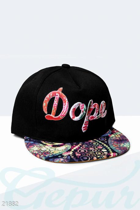Купить Перчатки, шарфы, шапки / Кепки, Стильная бейсболка Dope , Кепка-21882, GEPUR, черный