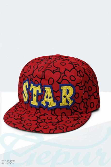 Купить Перчатки, шарфы, шапки / Кепки, Оригинальная бейсболка Star , Кепка-21887, GEPUR, красно-желтый