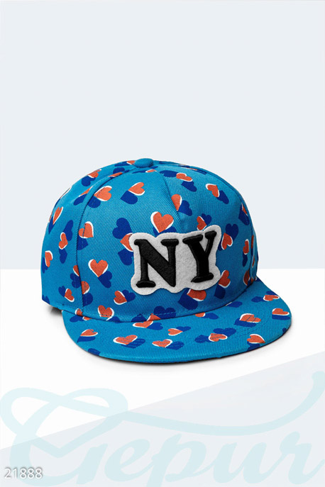 Купить Перчатки, шарфы, шапки / Кепки, Стильная бейсболка NY , Кепка-21888, GEPUR, голубой