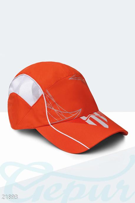 Купить Перчатки, шарфы, шапки / Кепки, Спортивная летняя бейсболка, Кепка-21893, GEPUR, оранжево-белый