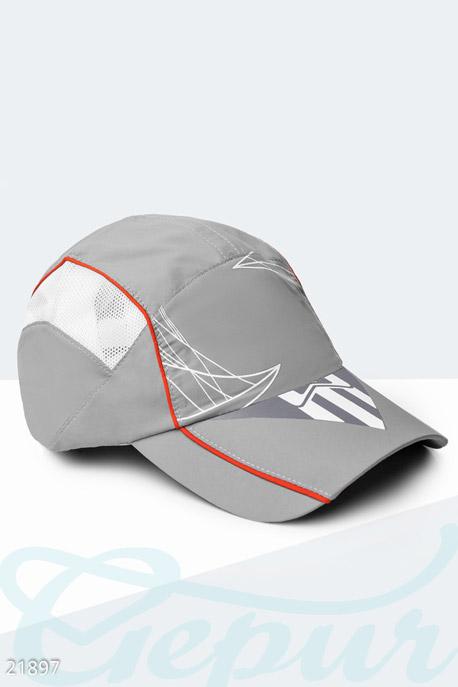 Купить Перчатки, шарфы, шапки / Кепки, Спортивная летняя бейсболка, Кепка-21897, GEPUR, серо-белый