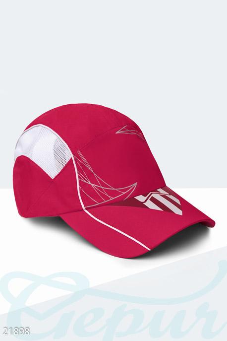 Купить Перчатки, шарфы, шапки / Кепки, Спортивная летняя бейсболка, Кепка-21898, GEPUR, малиново-белый