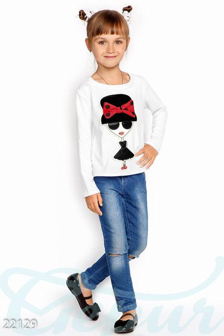 Купить Детская одежда, Интересный детский свитшот, Свитшот-22129, GEPUR, белый