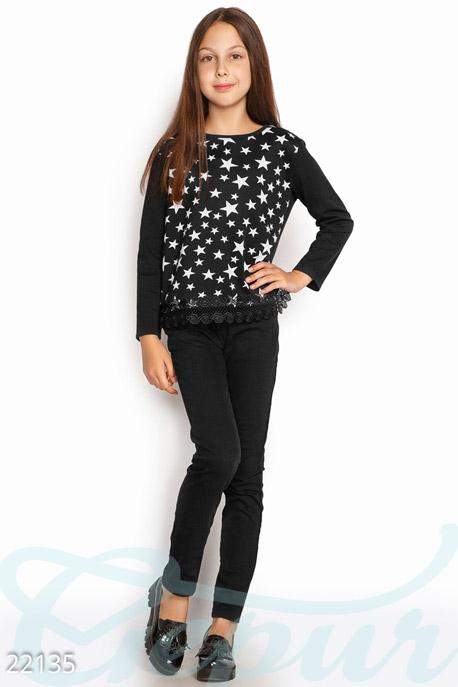 Купить Детская одежда, Детский свитшот Stars , Свитшот-22135, GEPUR, черно-белый