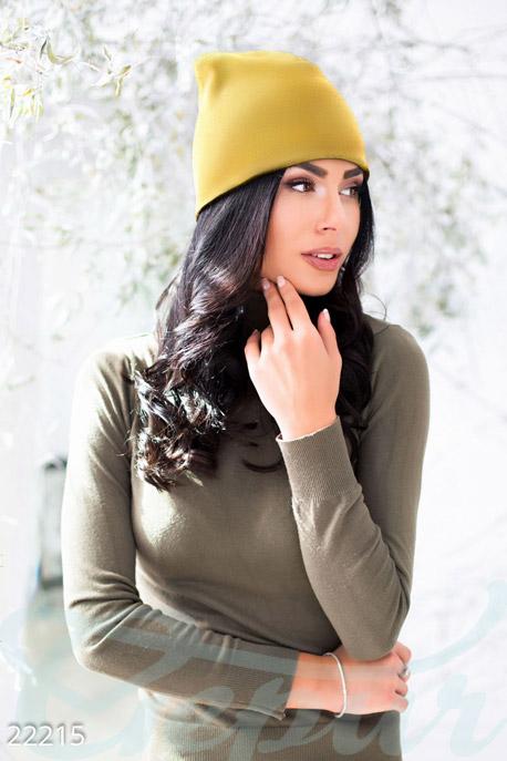 Цветная женская шапка