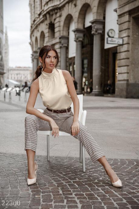 Купить Блузы, рубашки, Блуза без рукавов, Блуза-22300, GEPUR, кремовый
