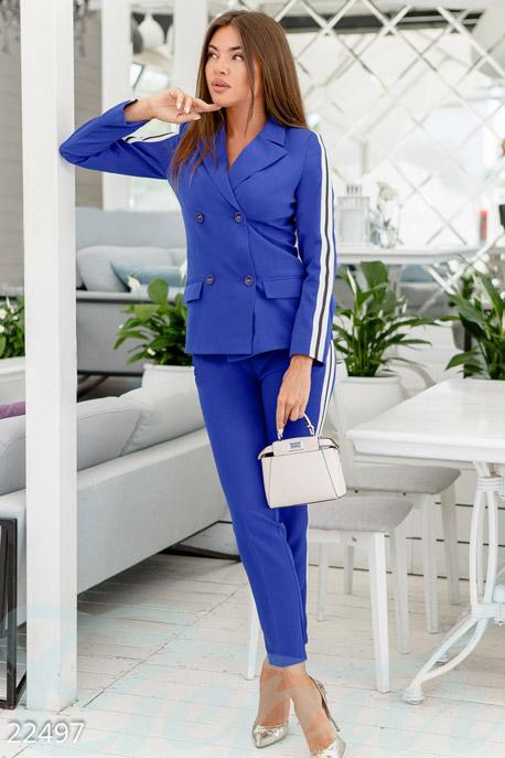 Купить Костюмы и комплекты / Низ брюки, Ультрамодный женский костюм, Костюм-22497, GEPUR, электрик