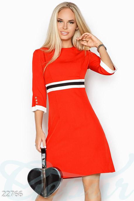 Купить Платья / Мини, Лаконичное офисное платье, Платье-22766, GEPUR, ярко-красный