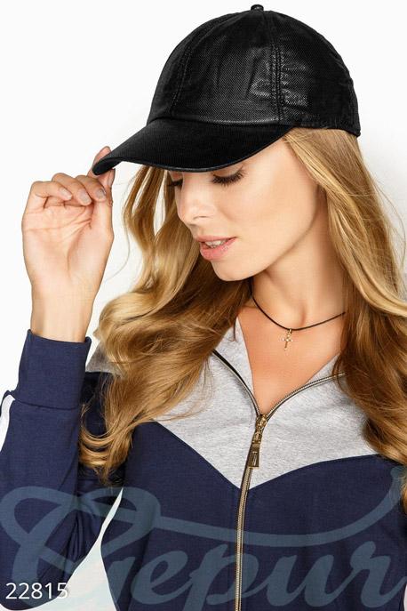 Купить Перчатки, шарфы, шапки / Кепки, Бейсболка с напылением, Бейсболка-22815, GEPUR, черный