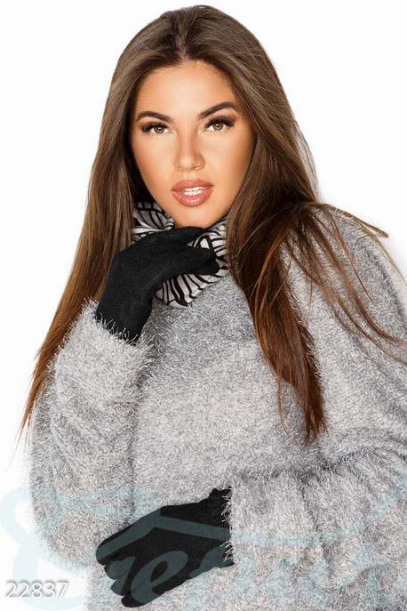 Купить Перчатки, шарфы, шапки / Перчатки, Теплые кашемировые перчатки, Перчатки-22837, GEPUR, черный