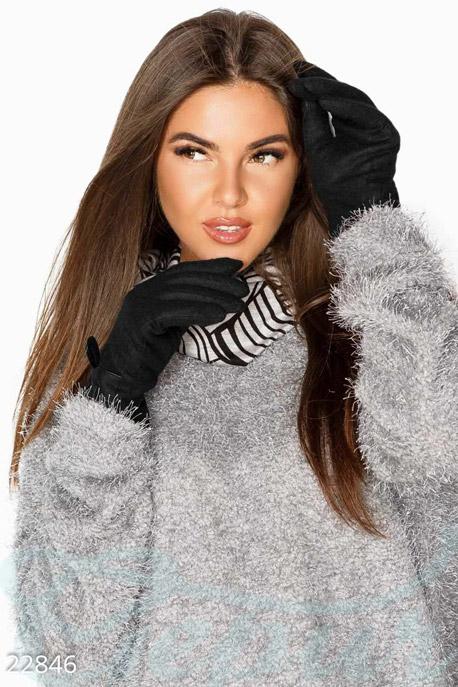 Купить Перчатки, шарфы, шапки / Перчатки, Теплые женские перчатки, Перчатки-22846, GEPUR, черный