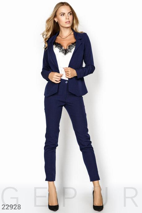 Купить Костюмы и комплекты / Низ брюки, Женский деловой костюм, Костюм-22928, GEPUR, темно-синий