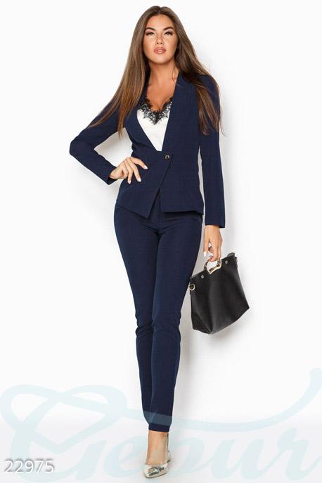 Купить Костюмы и комплекты / Низ брюки, Аккуратный деловой костюм, Костюм-22975, GEPUR, темно-синий