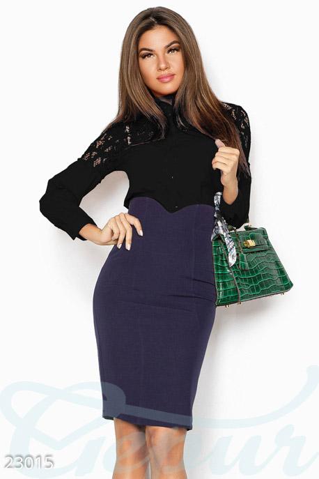 Купить Блузы, рубашки, Однотонная женская блуза, Блуза-23015, GEPUR, черный