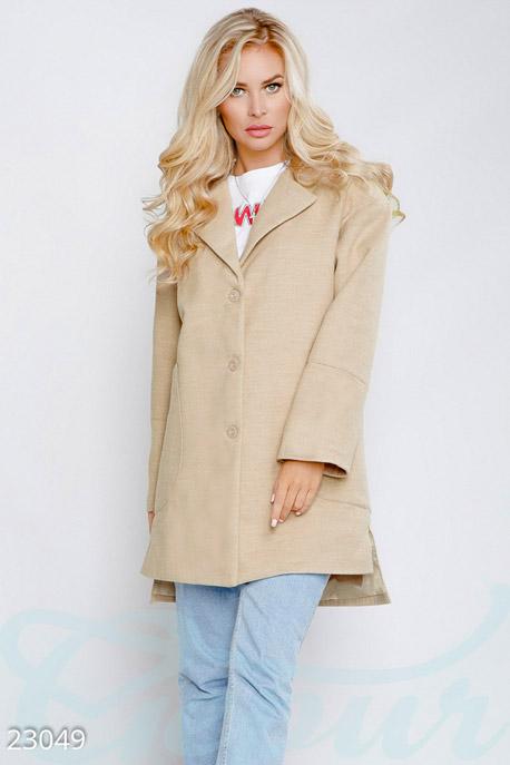 Прямое кашемировое пальто купить в интернет-магазине в Москве, цена 1376.86 |Пальто-23049