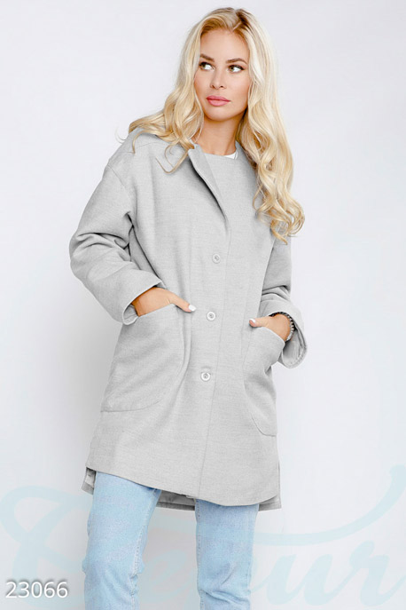 Прямое кашемировое пальто GEPUR