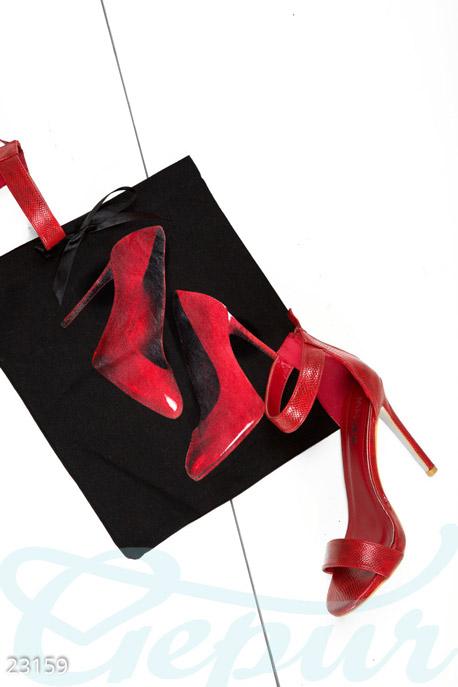 Купить Сумки, клатчи, кошельки / Сумки, Льняной дорожный мешок, Сумка-23159, GEPUR, черно-красный
