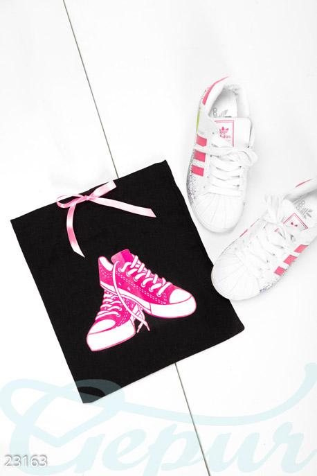 Купить Сумки, клатчи, кошельки / Сумки, Небольшой дорожный мешок, Сумка-23163, GEPUR, черно-розовый