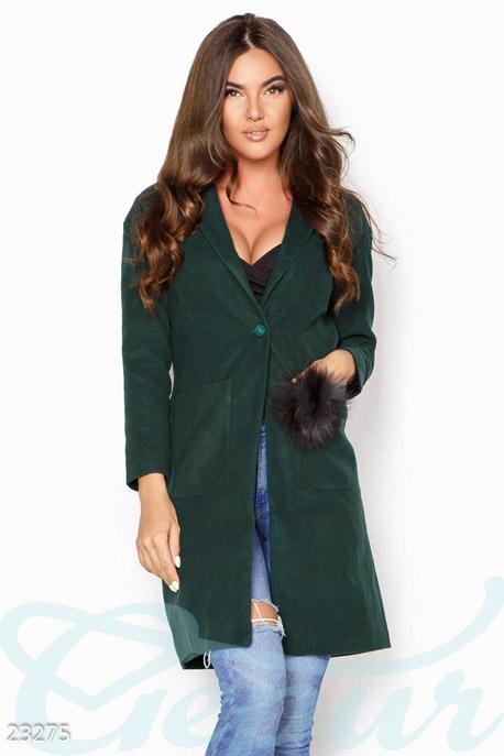 Декорированное кашемировое пальто купить в интернет-магазине в Москве, цена 1369.82 |Пальто-23275