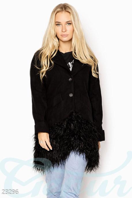 Пальто с мехом GEPUR
