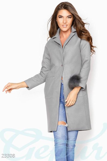 Декорированное кашемировое пальто GEPUR