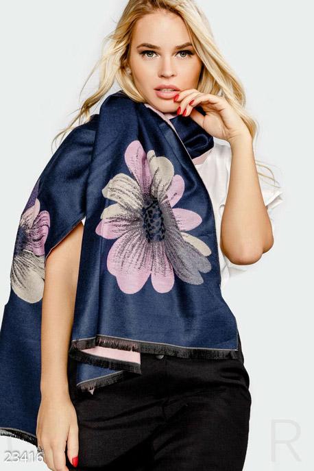 Купить Перчатки, шарфы, шапки / Шарфы, Теплый шарф-палантин, Шарф-23416, GEPUR, синий