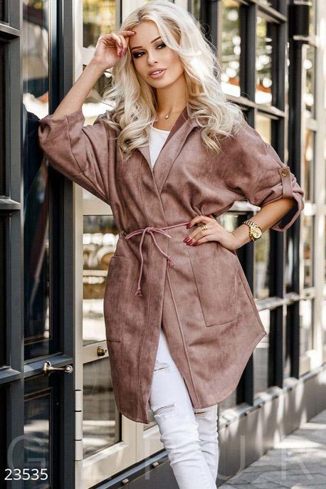 Купить Верхняя одежда / Парки, Замшевая куртка-парка, Куртка-23535, GEPUR, светло-коричневый