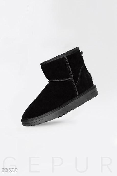 Купить Обувь / Угги, Короткие замшевые угги, Угги-23622, GEPUR, черный