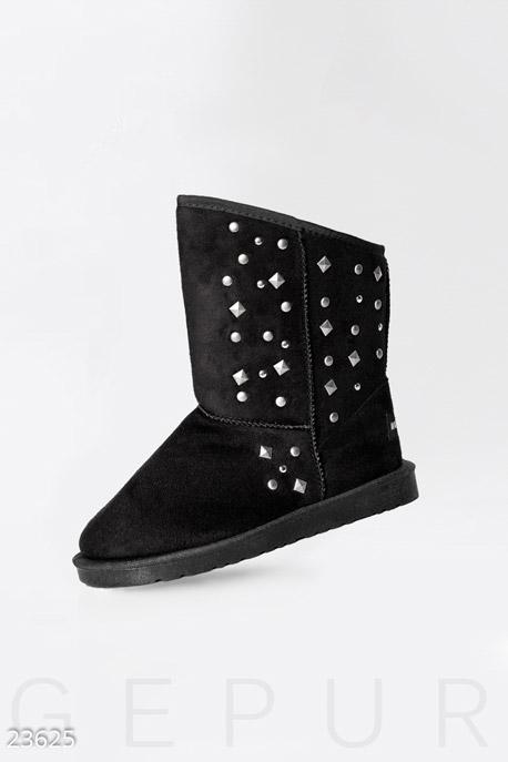 Купить Обувь / Угги, Угги с заклепками, Угги-23625, GEPUR, черный