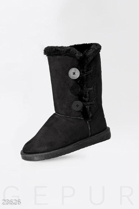 Купить Обувь / Угги, Угги с пуговицами, Угги-23626, GEPUR, черный