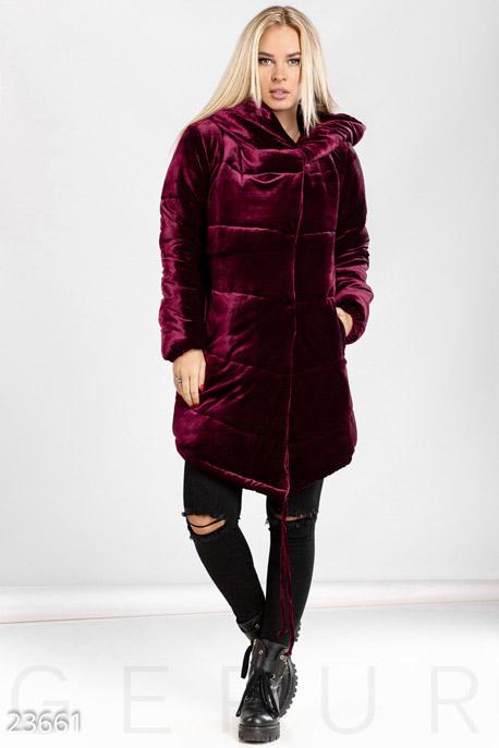 Длинная бархатная куртка