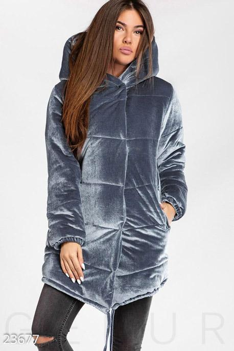 Длинная бархатная куртка GEPUR