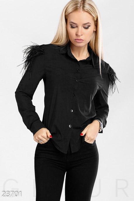 Купить Блузы, рубашки, Модная декорированная блуза, Блуза-23701, GEPUR, черный