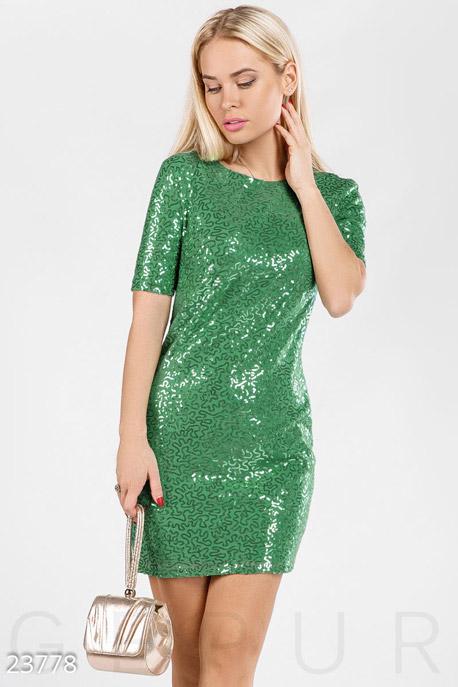 Платья / Мини, Платье расшитое пайетками, Платье-23778, GEPUR, ярко-зеленый  - купить со скидкой