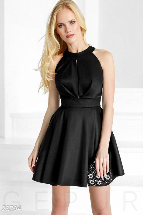 Купить Платья / На выпускной, Пышное монохромное платье, Платье-23794, GEPUR, черный