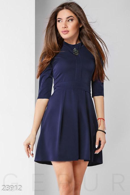 Купить Платья / Мини, Лаконичное праздничное платье, Платье-23912, GEPUR, насыщенный синий