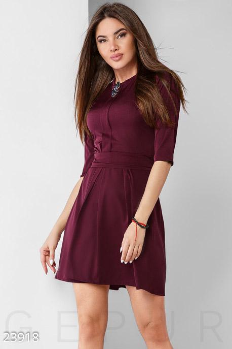 Купить Платья / Мини, Лаконичное праздничное платье, Платье-23918, GEPUR, марсала