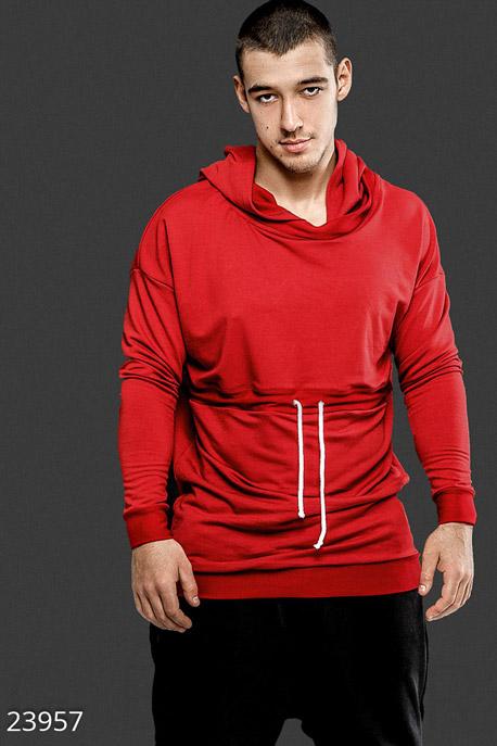 Купить Мужская одежда, Стильный мужской лонгслив, Лонгслив-23957, GEPUR, красный