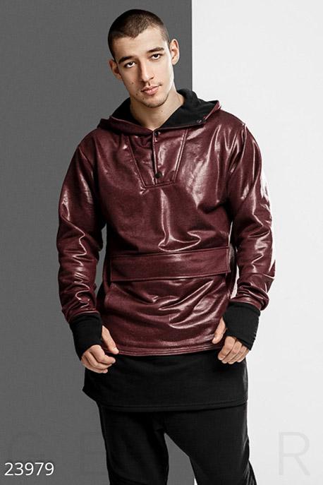 Купить Мужская одежда, Эксклюзивное мужское худи, Худи-23979, GEPUR, марсала