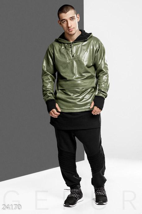Купить Мужская одежда, Эксклюзивное мужское худи, Худи-24170, GEPUR, хаки
